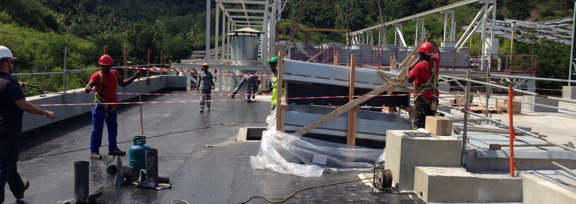 CONSTRUCTION ET EXTENSION DE LA CENTRALE ELECTRIQUE DE LONGONI